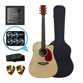 Artist LSPFXNT Acoustic-Electric Guitar w/ FX and speaker + Black Case