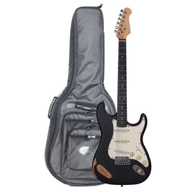 Artist ST62BKR Electric Guitar Black Relic with High-Grade Bag