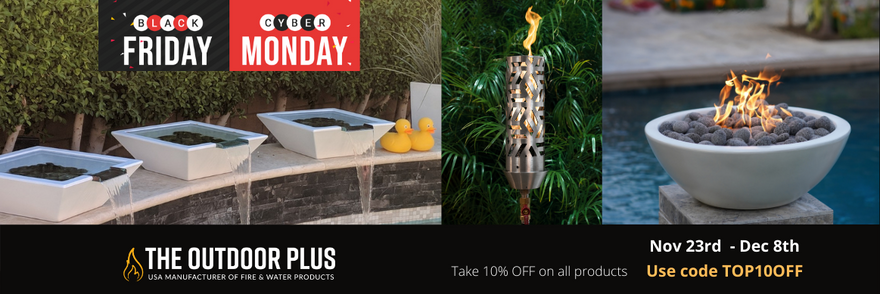 Black Friday Cyber Monday Sale - 10% Off and Free Shipping on ALL products form The Outdoor Plus.