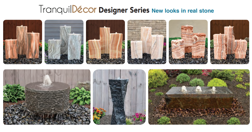 Tranquil Decor  real stone fountains