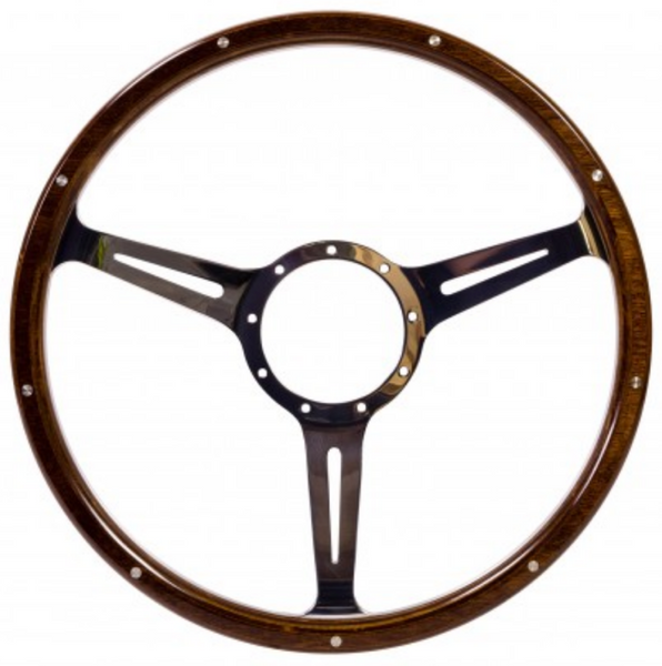 VW Kombi or Beetle Mahogany Wooden Steering Wheel