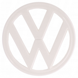 VW Kombi Badge Emblem Late Baywindow White