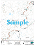 SHT Map Series F: Pincushion Mountain Trailhead to Northern Terminus