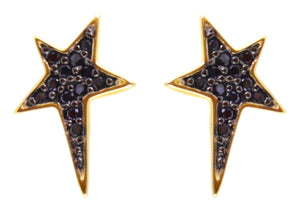 Lucky Star studs gold/ black