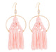 Fiona Fringe Earrings - Pink Champagne
