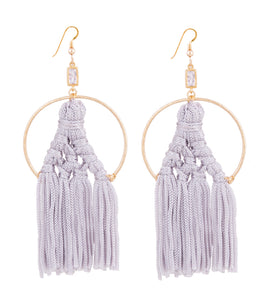 Fiona Fringe Earring - Dove Grey