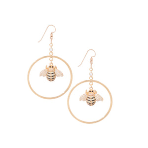 Dainty Bee Hoops