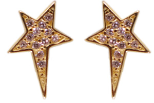 Lucky Star studs gold/ clear