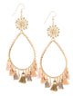 Garden of Eden Flower Tassel Earrings - Warm Nude
