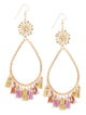 Garden of Eden Flower Tassel Earrings  - Rose Metallic