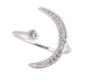 New Moon Ring - Silver