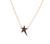 Mini Lucky Star Necklace - Gold/Black