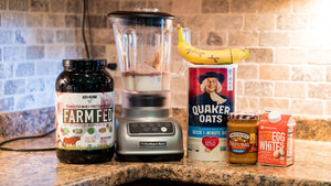 Farmfed Shake | Chocolate Peanut Butter Banana