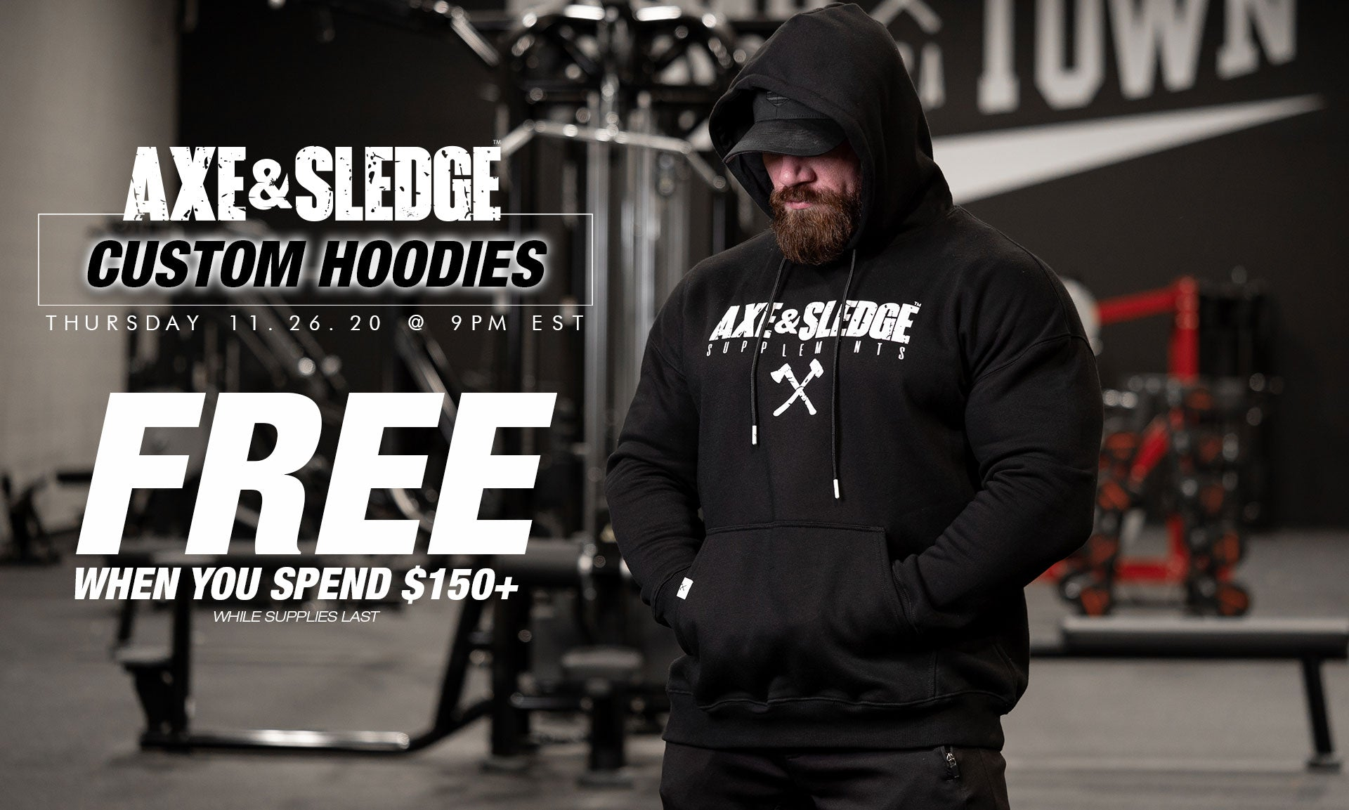 Axe and Sledge Hoodie