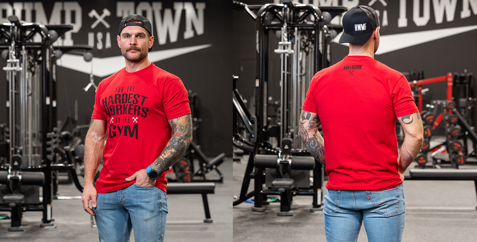 Hardest Workers Tee - Red