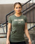 Khaki on Military Women's Logo Tee
