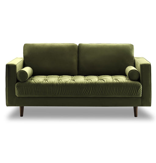 Bente Tufted Velvet Loveseat 2-Seater Sofa - Green