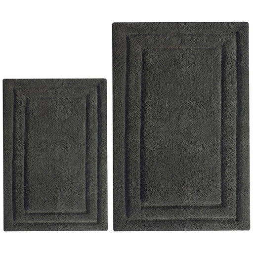 Classic 2 Pc Bath Rug Set - Gray