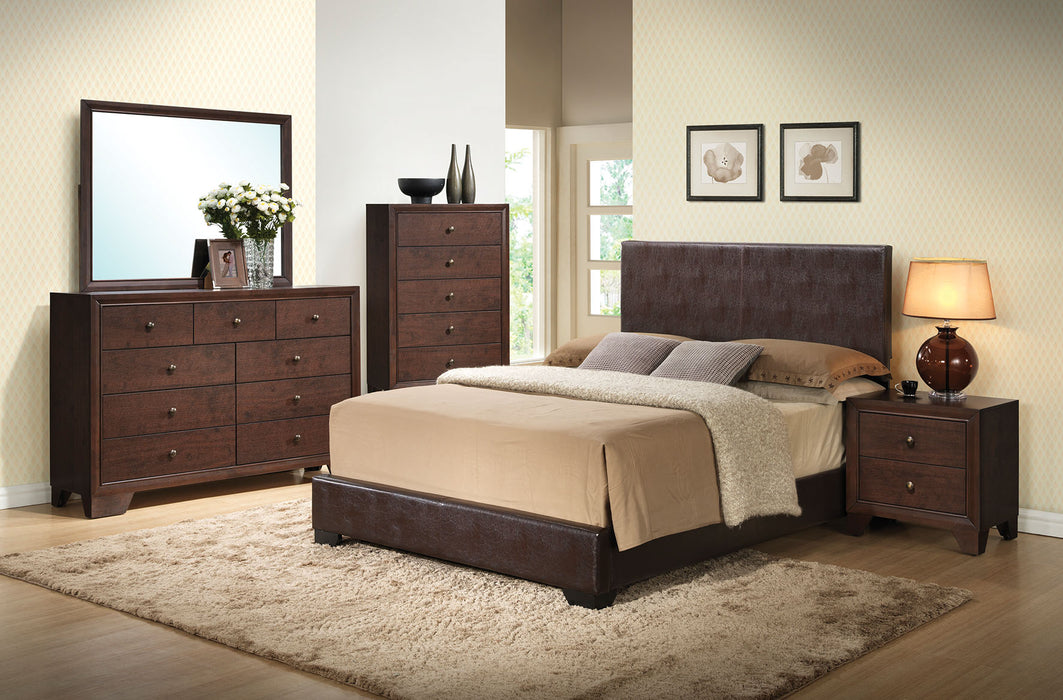 Ireland Iii Eastern King Brown Pu Panel Bed