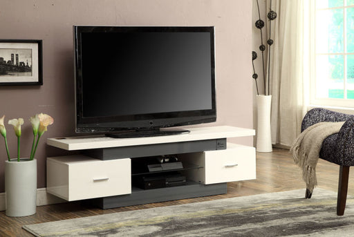 White And Gray TV Stand