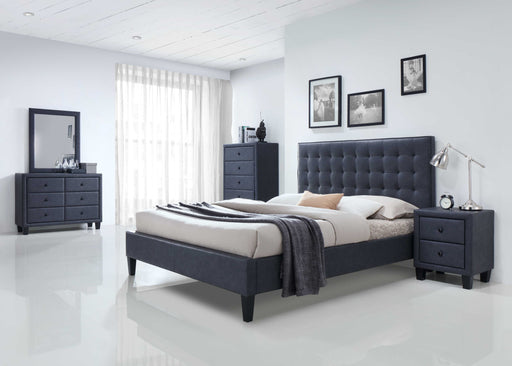 2 Tone Gray Queen Bed