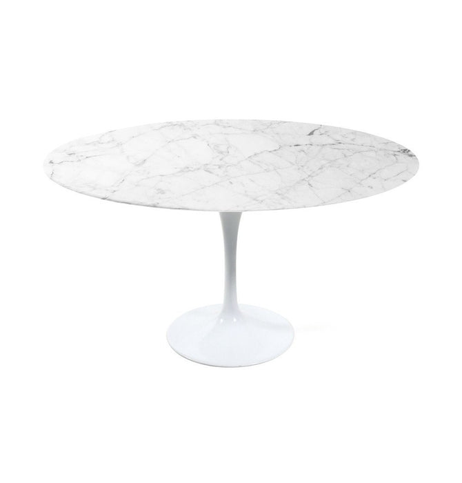 Tulip Dining Table - Round - Marble Top - Reproduction