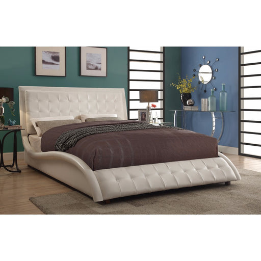 Contemporary Styled Soothing Upholstered Queen Size Bed