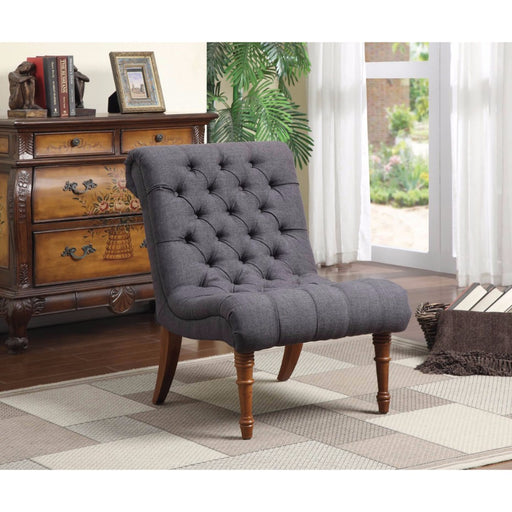 Patently Voguish Accent Chair, Charcoal Gray