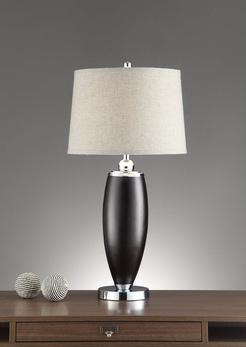 Wide Shade Table Lamp Black Set Of 2