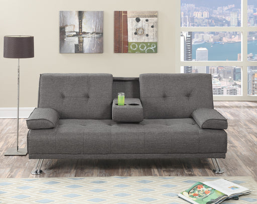 Polyfiber Linen Fabric Adjustable Sofa In Gray