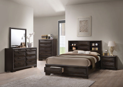 Espresso Eastern King Storage Bed