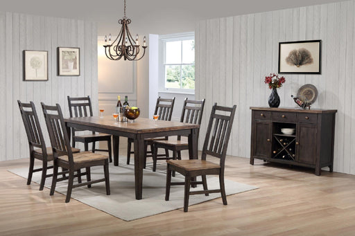 Two-Tone Hardwood 8 Piece Dining Set