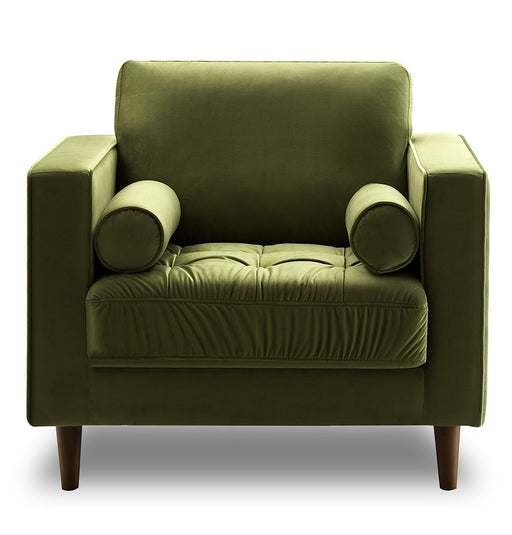 Bente Tufted Velvet Lounge Chair - Green