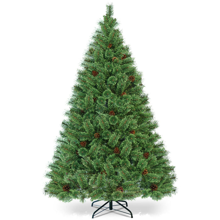 6 ft Pre-Lit PVC Artificial Carolina Pine Tree with LED Lights