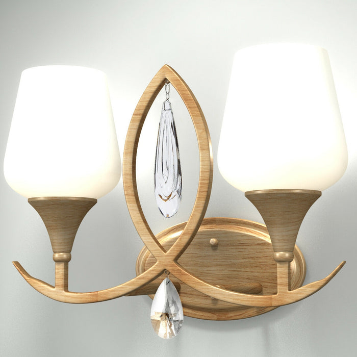 2-Light Retro Crystal Vanity Light