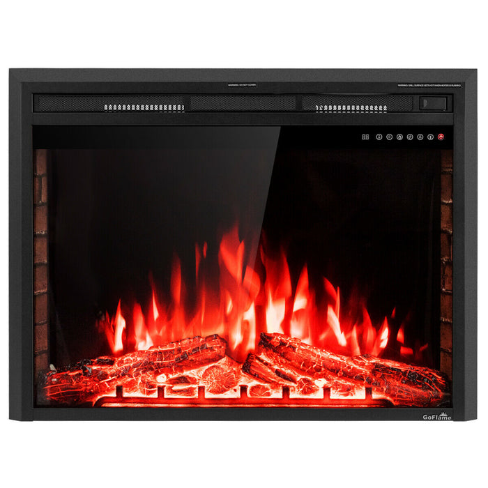 "36"" Electric Fireplace Insert Freestanding Stove Heater"