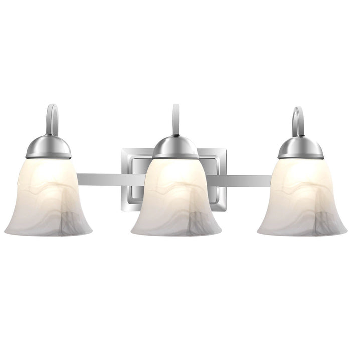 3-Light LED Bath Vanity Light with Alabaster Glass Dimmable