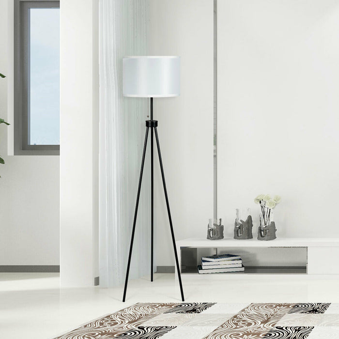 Modern Metal Tripod Floor Lamp with Chain Switch