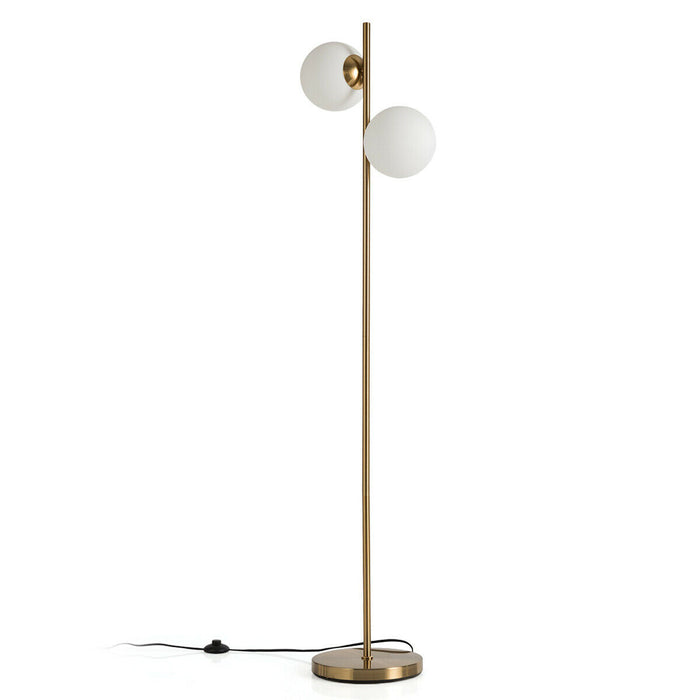 "65"" LED Floor Lamp with 2 Light Bulbs & Foot Switch"
