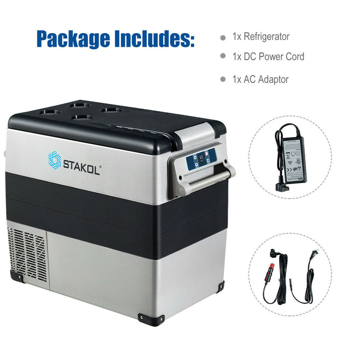 53 Quarts Portable Electric Car Cooler Refrigerator