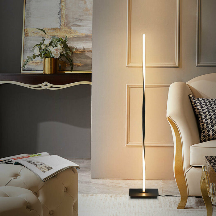 "48"" Helix LED Floor Lamp Modern Standing Pole Light"
