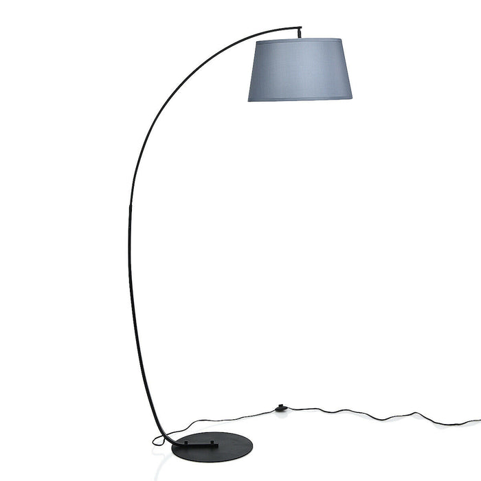 Arc Sturdy Base Modern Floor Lamp with Hanging Lampshade