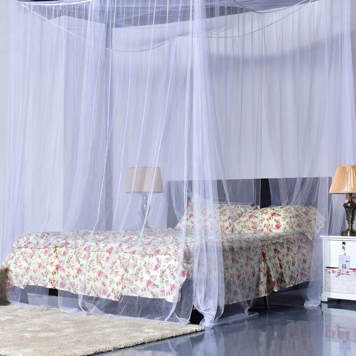 4 Corner Post Full Queen King Size Bed Mosquito Net