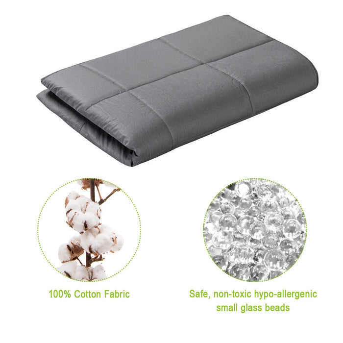 "48"" x 72"" 100% Cotton Weighted Blanket with Glass Beads"