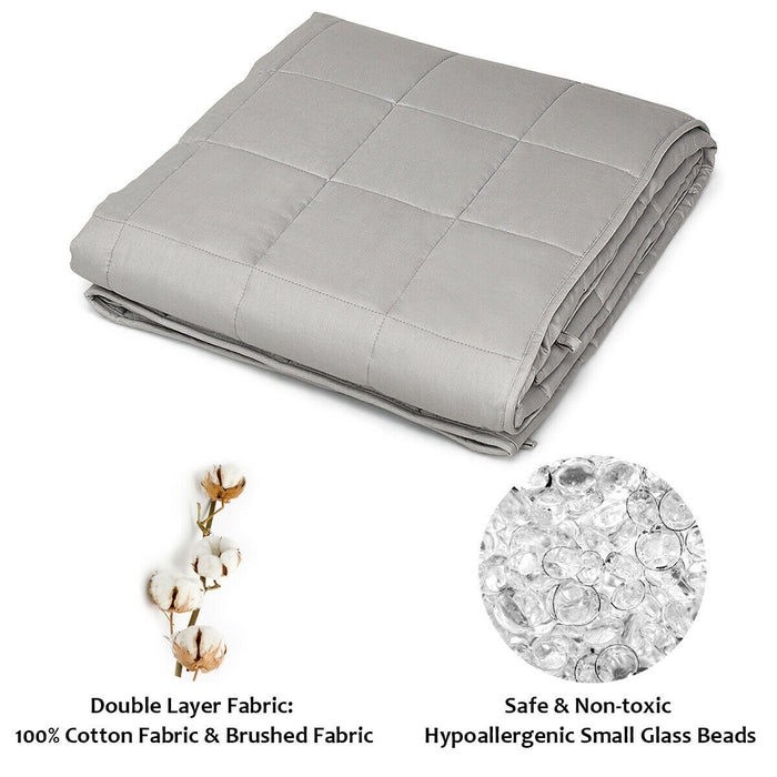 15 lbs Weighted Blankets with Glass Beads Light