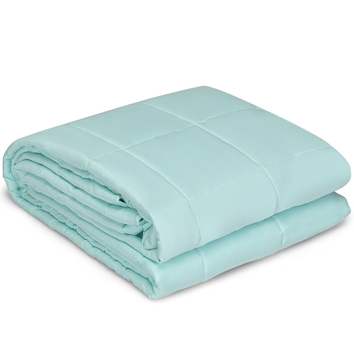 "15 lbs 48"" x 72"" Premium Cooling Heavy Weighted Blanket"