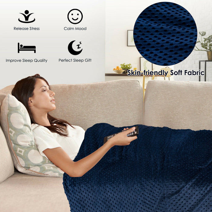 10 lbs Removable Super Weighted Blanket with Glass Bead
