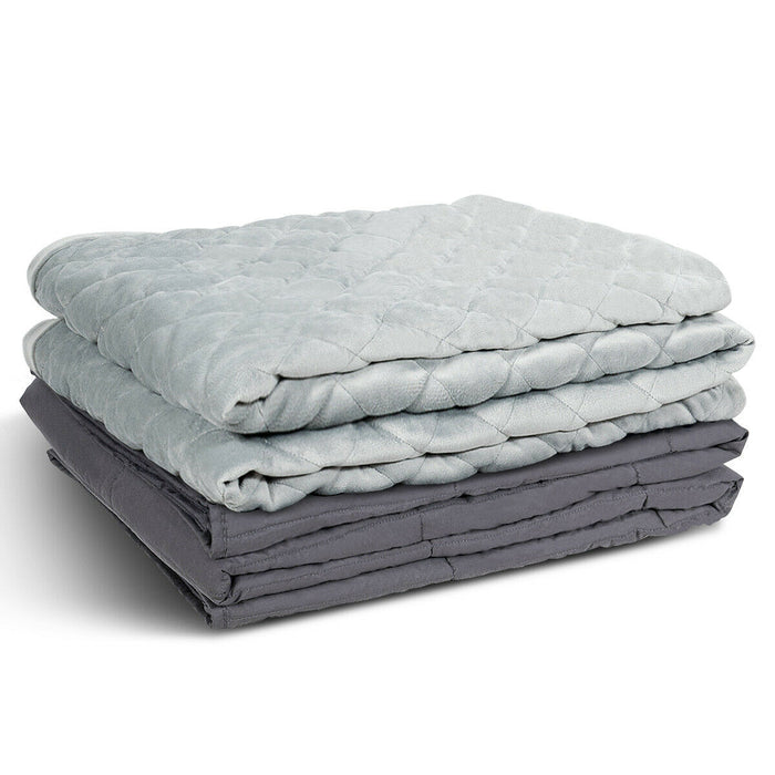 15 lbs 100% Cotton Weighted Blanket  with Crystal Cover
