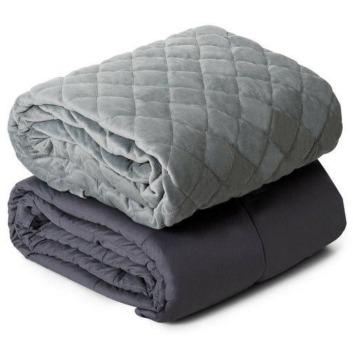 25lbs Weighted Blanket 100% Cotton with Soft Crystal Cover