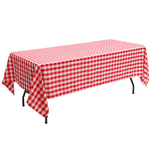 "10 Pcs 60"" x 126"" Rectangular Polyester Party Tablecloth"